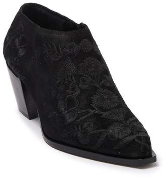 Donald J Pliner Rietas Floral Embroidered Suede Ankle Bootie