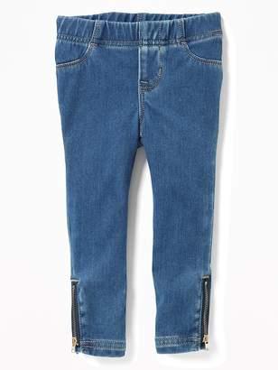 Old Navy Skinny Pull-On Side-Zip Jeggings for Toddler Girls