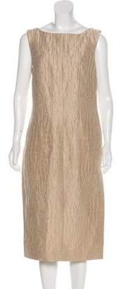 Giambattista Valli Linen Sheath Dress Khaki Linen Sheath Dress