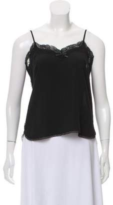 Artisan Lace-Trimmed Silk Top w/ Tags