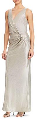 Lauren Ralph Lauren Sleeveless Metallic Gown