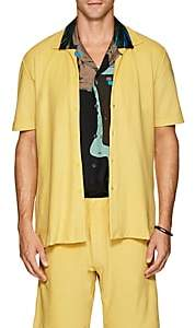 P. Johnson Men's Cotton Terry Short Sleeve Shirt - Yellow
