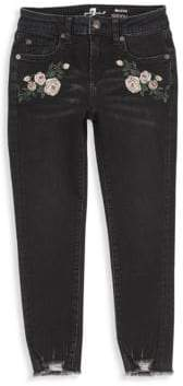 7 For All Mankind Little Girl's & Girl's Floral Ankle Jeans