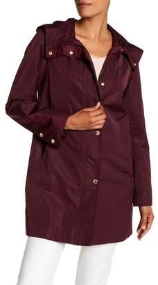 Ellen Tracy Iridescent Packable Raincoat $200 thestylecure.com
