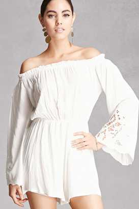 FOREVER 21+ Lush Off-the-Shoulder Romper $48 thestylecure.com