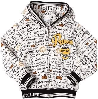 Dolce & Gabbana Prince Printed Hooded Cotton Sweatshirt