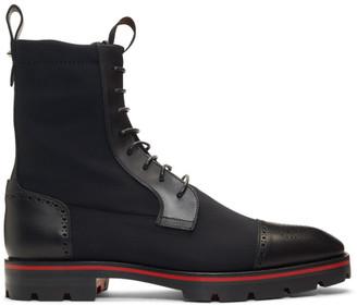 Christian Louboutin Black Sockroc Boots