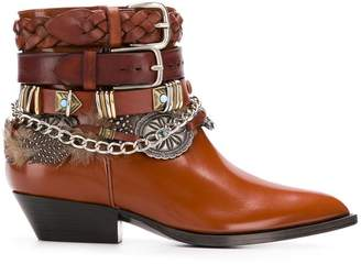 Philosophy di Lorenzo Serafini buckled pointed boots