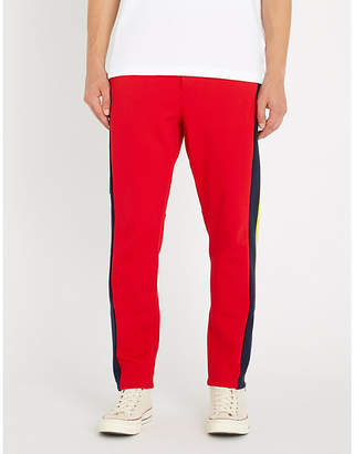 Polo Ralph Lauren Logo-print panelled cotton-jersey jogging bottoms