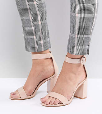 Raid Wide Fit RAID Wide Fit Genna Patent Block Heeled Sandals