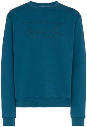 Martine Rose long sleeve logo embroidered sweater