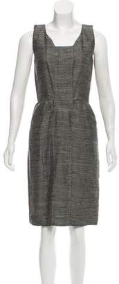 Oscar de la Renta Linen Sheath Dress