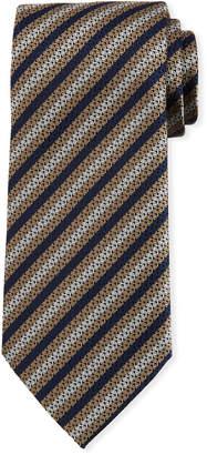 Ermenegildo Zegna Diamond-Striped Silk Tie