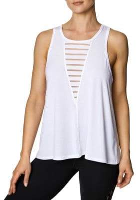 Betsey Johnson Burnout Stripe Swing Tank Top
