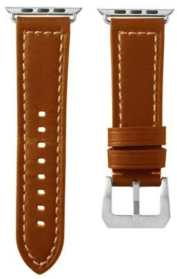 Smart Buddie 38mm Genuine Leather Band in Tan for use with Apple Watch