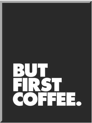 "Art.com But First Coffee"" Mounted Wall Art Print"