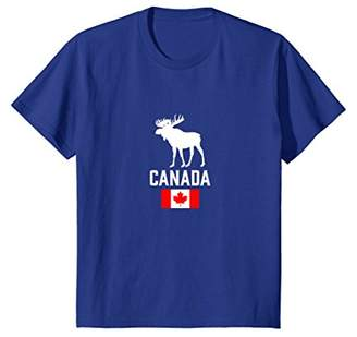 Canada Moose Canada Flag Canadian Pride Maple Leaf T-Shirt