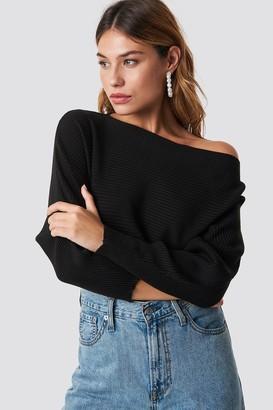 Trendyol Off Shoulder Knitted Jumper Black