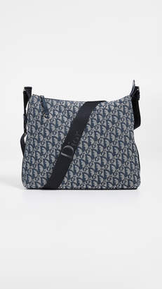 Christian Dior What Goes Around Comes Around Canvas Messenger Bag
