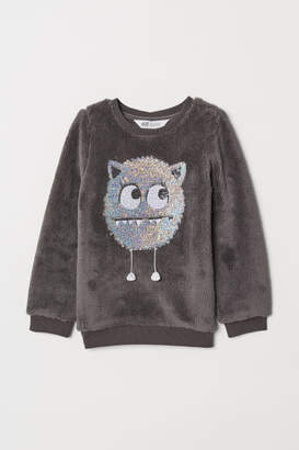 H&M Pile top with sequins