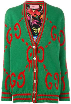 Gucci reversible GucciGhost logo cardigan