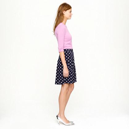 Pleated skirt in polka-dot crepe 2