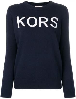 MICHAEL Michael Kors logo crew neck jumper