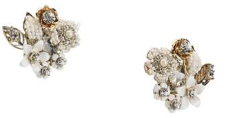 Miriam Haskell Floral Cluster Clip-On Stud Earrligns