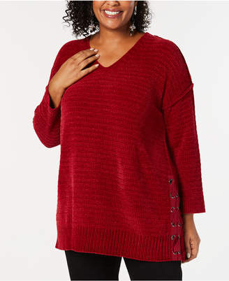 Style&Co. Style & Co Plus Size Chenille Tunic Sweater