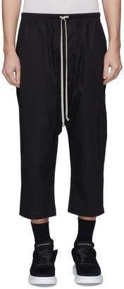 Rick Owens Drop crotch cropped poplin jogging pants