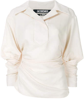 Jacquemus puff-sleeve ruched shirt