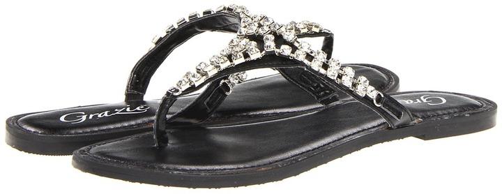Grazie Marcella (Black) - Footwear