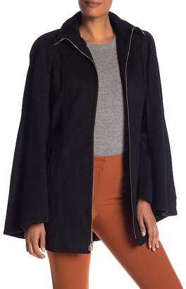 Laundry by Shelli Segal Wool Blend Belted Cape