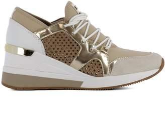 Michael Kors Beige Fabric Sneakers