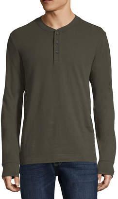 ST. JOHN'S BAY Mens Long Sleeve Henley Shirt