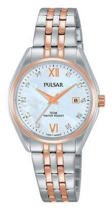 Pulsar Women's 29mm Two Tone Steel Bracelet Steel Case Quartz Watch Ph7458