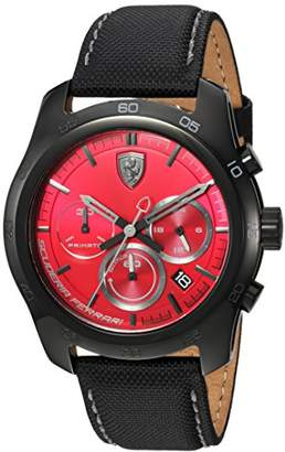 Ferrari Men's 'PRIMATO' Quartz Stainless Steel and Nylon Casual Watch