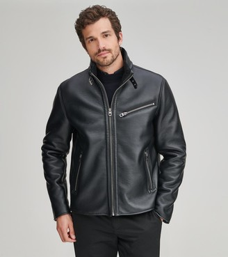 Andrew Marc FLINT FAUX LEATHER MOTO JACKET