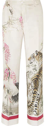 F.R.S For Restless Sleepers - Etere Printed Silk-twill Pants - Ecru