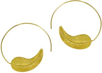 Ottoman Hands - Gold Feather Pull Through Earrings
