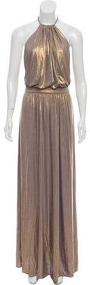Tibi Metallic Halter Dress w/ Tags