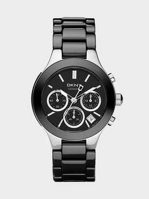 Donna Karan Donnakaran Black Ceramic Chronograph Watch