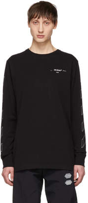Off-White Off White Black Diag 3D Line Long Sleeve T-Shirt