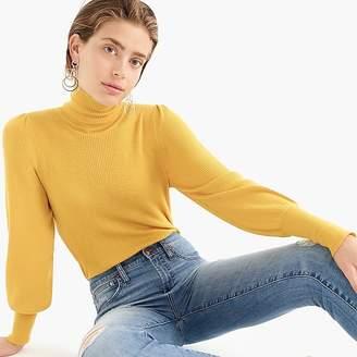 J.Crew Balloon-sleeve turtleneck sweater