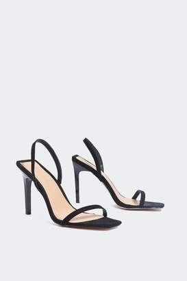 Nasty Gal All the Angles Square Toe Heel