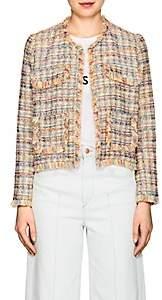 Barneys New York Women's Frayed-Edge Tweed Jacket-Pink