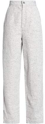 Isabel Marant Marled High-Rise Straight-Leg Jeans