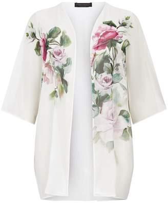 Marina Rinaldi Silk Floral Cape