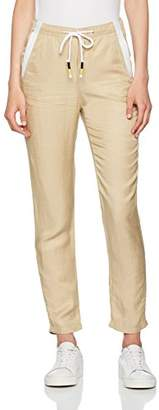 Benetton Women's Casual Linen Trouser with Tie Waist(Size:42)