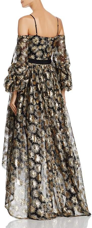 Aqua Zendaya x Firework Sequined Cold-Shoulder Gown - 100% Exclusive